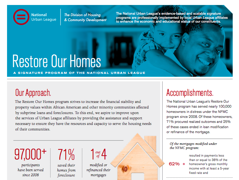 Restore Our Homes Fact Sheet